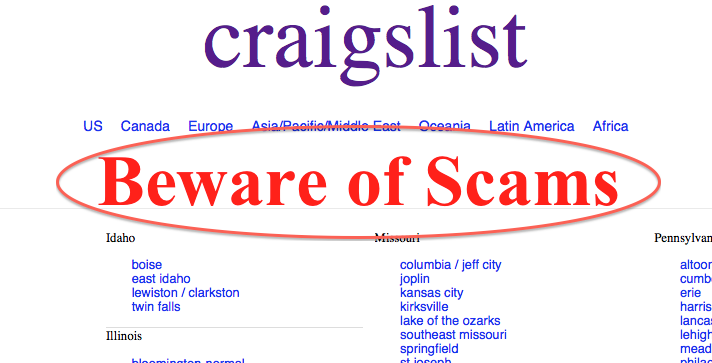 Rental Properties And Craigslist Scams